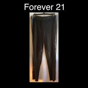 FOREVER 21 Black Skinny Pants Large
